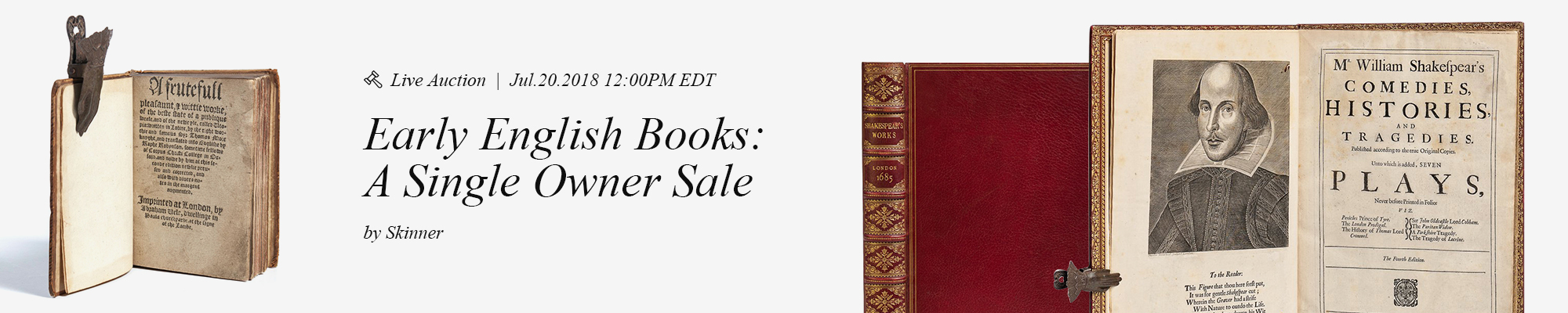 Early English Books: A Single Owner Sale, Skinner