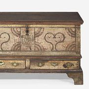 """A painted and decorated dower chest Lehigh County, PA, dated """"1782"""""""
