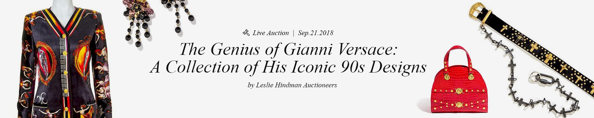The Genius of Gianni Versace: A Collection of His Iconic 90s Designs -  Leslie Hindman Auctioneers