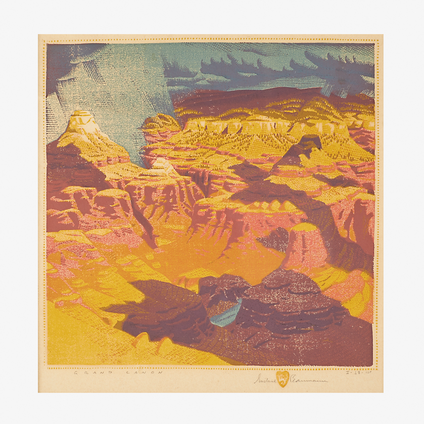 Gustave Baumann, Fine color woodblock print