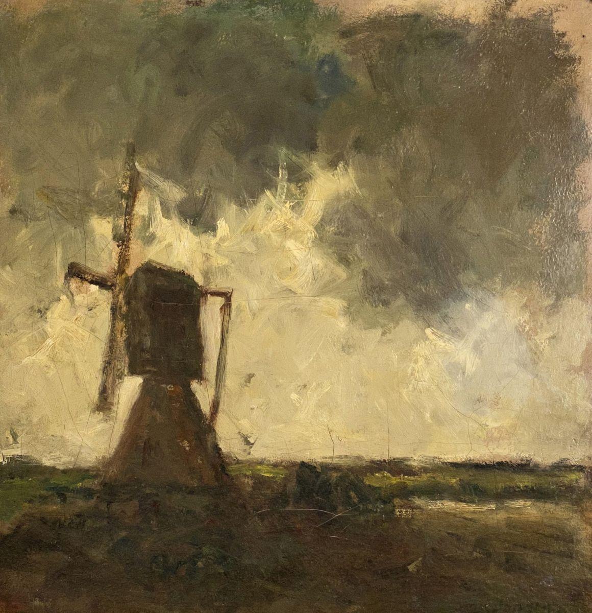Lot 224, Windmill in a landscape, 1895, Oil on canvas; Estimate $60,000-$80,000