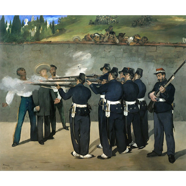 "Édouard Manet's oil on canvas ""The Execution of Emperor Maximilian"""