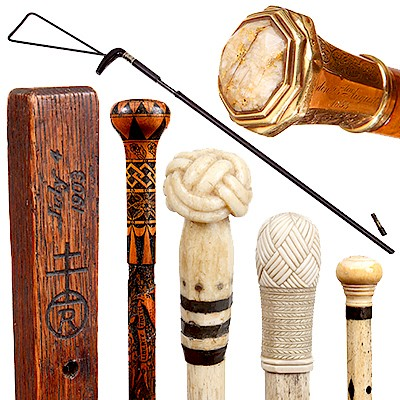 Antique and Quality Modern Cane Auction by Kimball Sterling