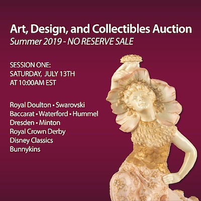 Art, Design and Collectibles Part 1 - No Reserve by Whitley's Auctioneers & Lion and Unicorn