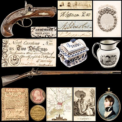 Historic Autographs-Currency-Political-Americana-Militaria-Guns by Early American History Auctions
