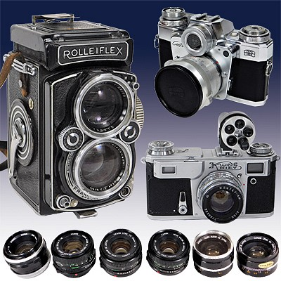 Huge!  35mm & Small Format Vintage Camera Auction by Bruneau & Co. Auctioneers