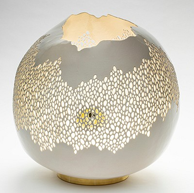Kate Tremel Clay- hand formed porcelain pottery and lighting by Kate Tremel