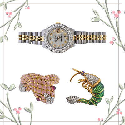 Holiday Jewels and Timepieces by A Touch of the Past
