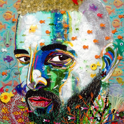"""""""Maluma Portrait"""" by Federico Uribe by Adelson Galleries"""