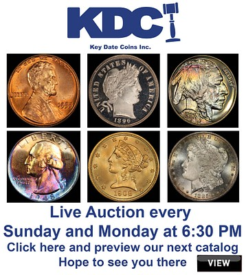 Winter Bonus Coin Consignment Auction 2 of 2 D3 by Key Date Coins, Inc.