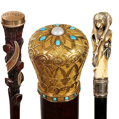 Richard Steffen Estate Antique Cane Auction by Kimball Sterling