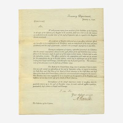 The Alexander Hamilton Collection of John E. Herzog by Freeman's