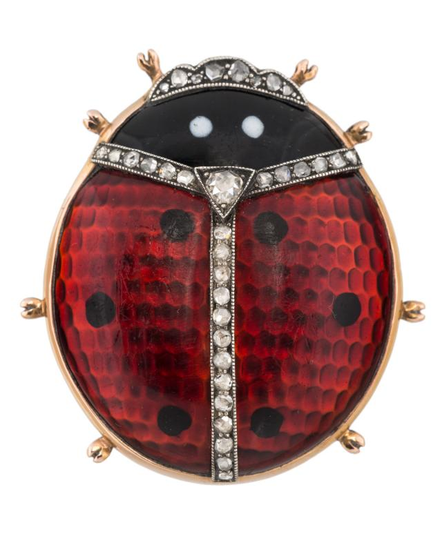 by faberg ornage enamel brooch wartski collection cm faberge