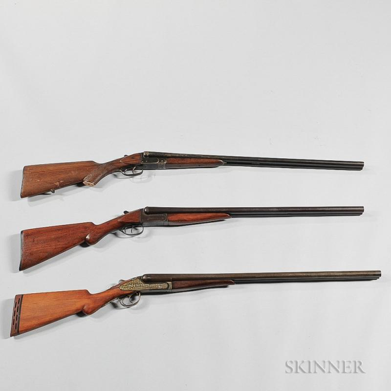 Three double barrel shotguns bidsquare item image thecheapjerseys Images