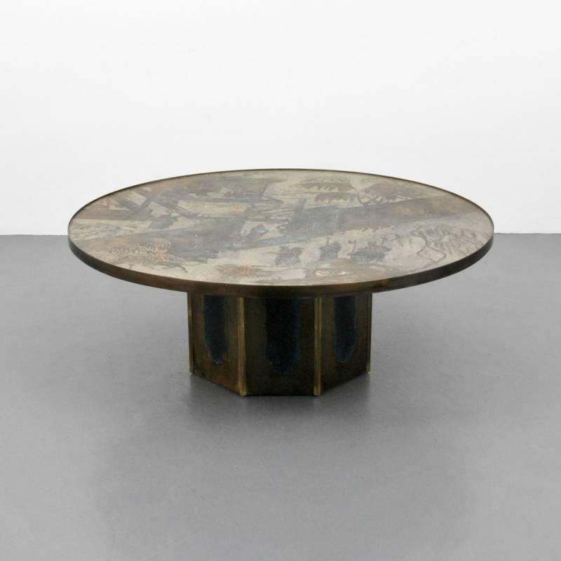 Large Philip U0026 Kelvin Laverne Coffee Table By Palm Beach Modern Auctions |  Bidsquare