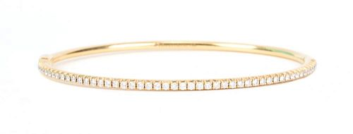 "A Tiffany & Co Gold ""Metro"" Bangle"