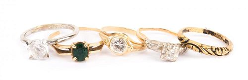 A Collection of Ladies' Rings