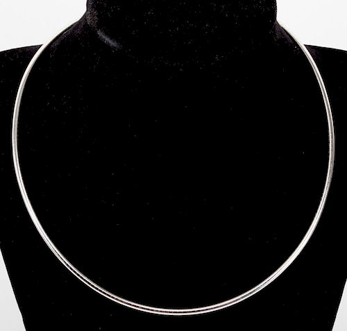 An Omega Necklace in 14K White Gold