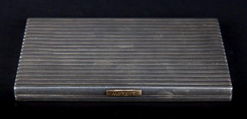 Fine Art Deco silver cigarette case by Cartier