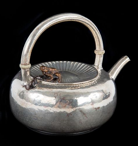 Gorham Aesthetic Movement sterling silver teapot