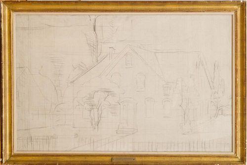 20TH CENTURY SCHOOL: HOUSE ON A STREET CORNER