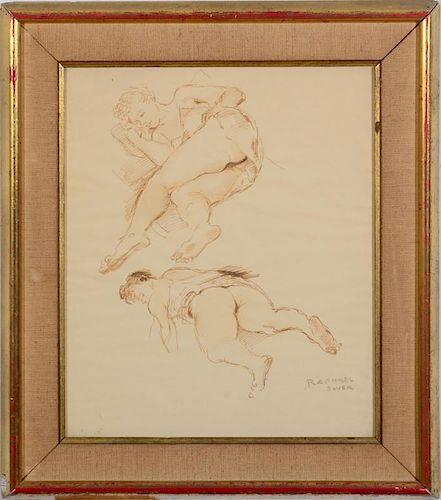 RAPHAEL SOYER (1899-1987): TWO FIGURES