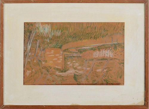 JARED FRENCH (1905-1988): LANDSCAPE