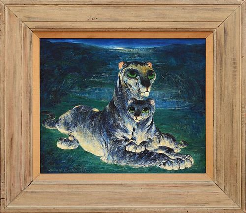 DARREL AUSTIN (1907-1994): WATCHFUL LIONESS