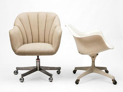 BRICKELL, KNOLL, TWO OFFICE CHAIRS