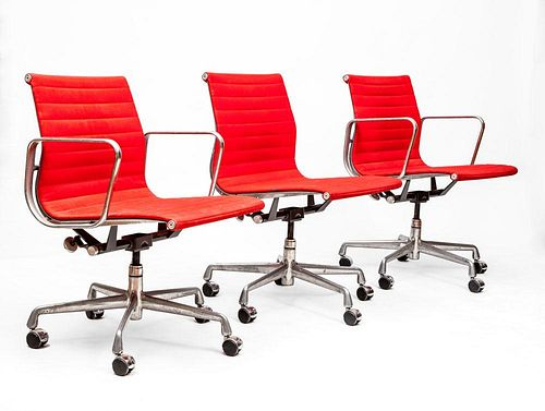 "CHARLES AND RAY EAMES FOR HERMAN MILLER, ALUMINUM GROUP"" THREE ARMCHAIRS"""