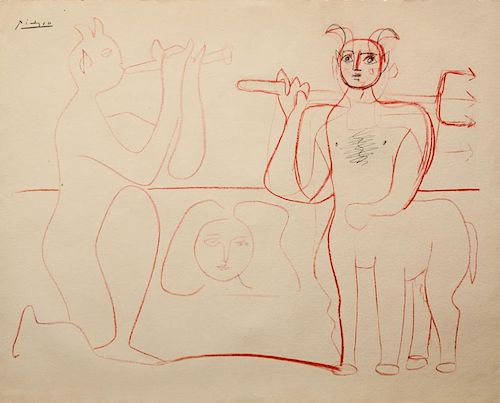 AFTER PABLO PICASSO (1881-1973): CENTAUR AND BACCANTE