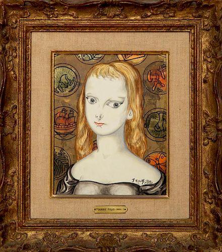 FOUSSA ITAYA (b. 1919): PORTRAIT OF A GIRL