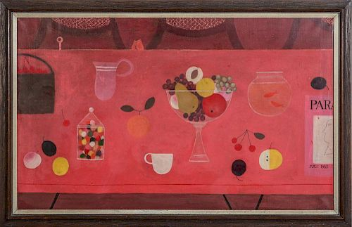DORIS LEE (1905-1983): TABLE WITH FRUIT
