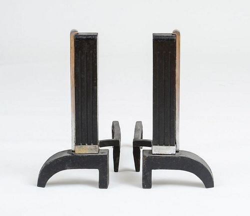 ART DECO ANDRIONS