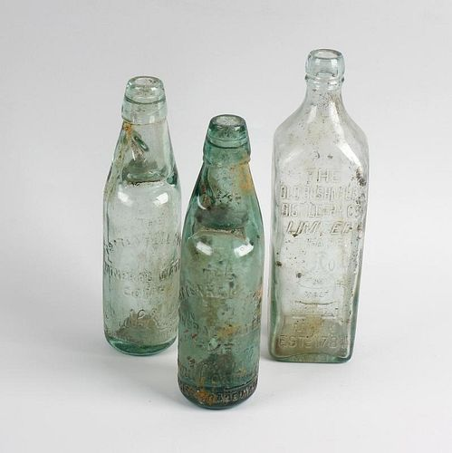Two boxes containing a collection of assorted glass bottles Comprising a group relating to Tettenhal