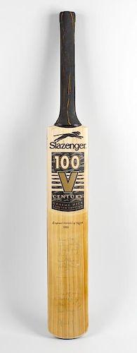 A signed 1999 World Cup cricket bat The Slazenger V100 Century Graeme Hick Limited Edition bat, SH (