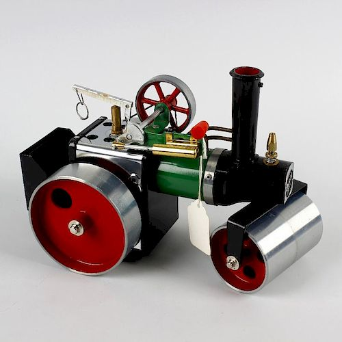 A Mamod SR1 A live steam model steam roller in original box, together with a similar Mamod open wago