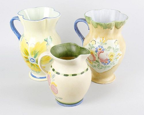 A large group of Hancocks pottery. To include Ivory ware jugs, Corona ware child's bowl, teapot, ser