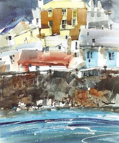 Sue Howells (1948-)'Polperro Harbour'Limited edition print 1/4Signed and dated 9913.5 x 11.25 (34.5c