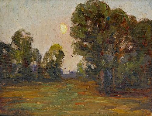 Franklin White (1892-1975)Five Studio dispersal works: three landscape oils on board, a similar past