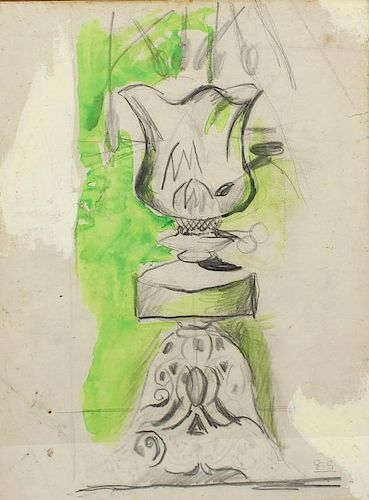ARR Graham Sutherland (1903 - 1980)Study of a paraffin lamp Mixed media (pencil, watercolour and bod