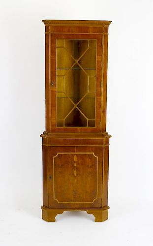 A mixed collection of furniture. Comprising a reproduction mahogany finished D-end twin pedestal din