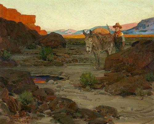 Frank Tenney Johnson | 1874 - 1939 NA | The Pool in the Desert