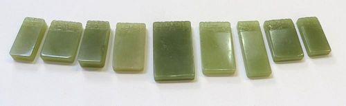 Seven Jade Pendants