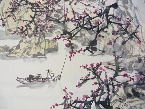 Chinese Painting Of A River Scene
