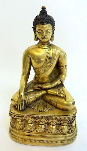 Qing Dynasty Gilt Bronze Buddha