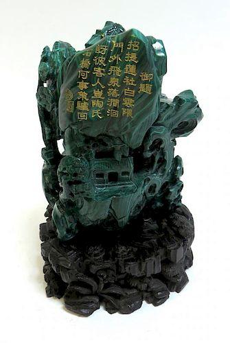 Carved Malachite