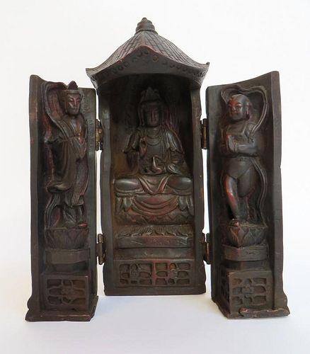 Carved Wood Religious Shrine