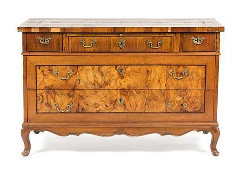 A Continental Burlwood Commode Height 47 x width 23 x depth 30 1/2 inches.