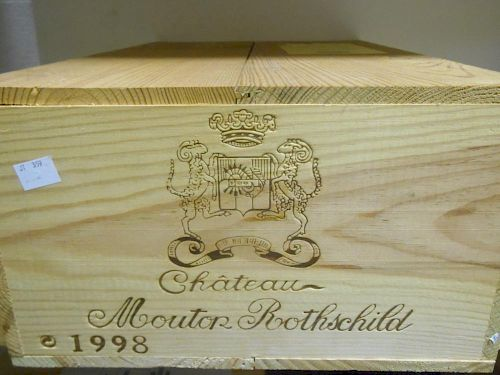 Chateau Mouton Rothschild, Pauillac 1er Cru 1998, twelve bottles in owc (ex. The Wine Society) <br>